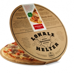 Nice packing for frozen pizzas from Norwegian Lokale Helter. Design by Strømme Throndsen Design.