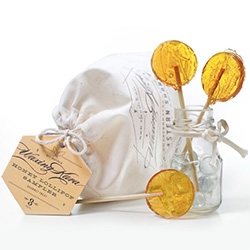 Waxing Kara's Honey Lollipops - In Honey, Lavender  Honey, Cinnamon Honey, and even dipped in dark chocolate!