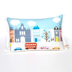 Michelle Mason's adorable London cushion series.