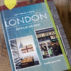 London Style Guide By Saska Graville, review and peek inside from Holly Becker over at Decor8