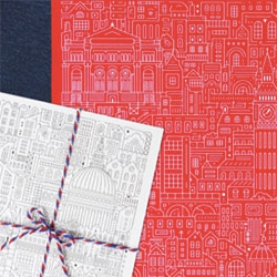 The City Works intricate illustrations of London cityscapes including many landmarks makes for fun poster/wrapping paper, cards, notebooks and more.