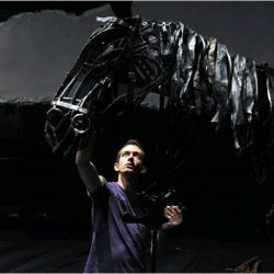 """War Horse"" is a London production of impressive puppetry using 'horses' made of cane.  The play is adapted by Nick Stafford from a novel by Michael Morpurgo and at the New London Theatre."