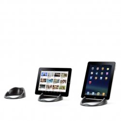 Griffins' Loop iPad stand is also a docking station, allowing your iPad to charge while in use.
