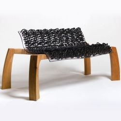 American designer Aaron Asedo has created the Loops Bench to fill a void in today's market – knock down furniture that appears to be a one-off piece of art.