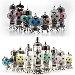 Los Boludos by Ramiro Cairo are characters designed and handcrafted with original vacuum tubes from old black and white televisions. The eyes are small rubber springs originally found under the keys in old computer keyboards.