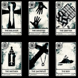 For all LOST fans: show-themed tarot cards! Designed by Alex Griendling.