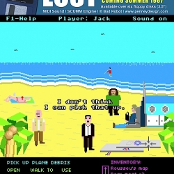 What if Lost had been a Point & Click Adventure game? From Penney Design.