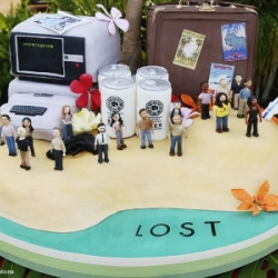 """Funky """"Lost"""" cake, made by Charm City Cakes to celebrate the 100th episode !"""