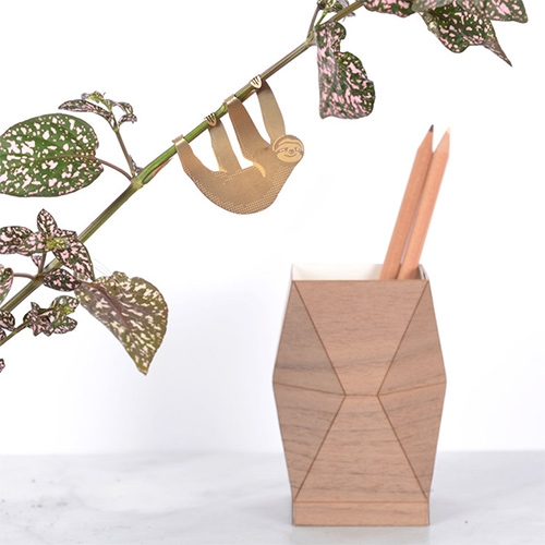 Another Studio Plant Animals - adorable creatures to adorn your houseplants. Made of brass.