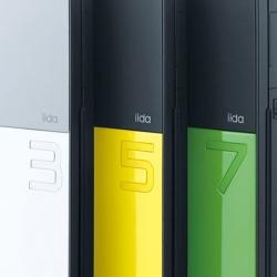 Beautiful cell phones by Ichiro Iwasaki for the Japanese company iida.