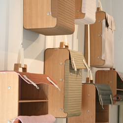 Suitcases as storage, like many other beautiful ideas by designer Lotty Lindeman from Netherlands.