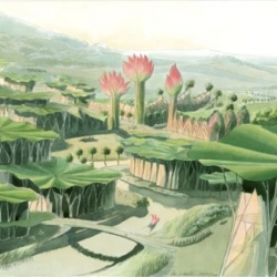 Lotus City if just one of the wonder-filled vegetal dreamscapes that architect Luc Schuiten has translated from his imagination to paper for our viewing pleasure.