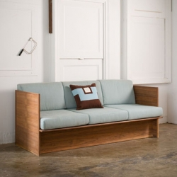 """Beautiful, unassuming """"Love Couch"""" from Samuel Moyer Furniture.  All handmade and one-of-a-kind, their pieces are heirloom quality, meant to be passed down for generations."""