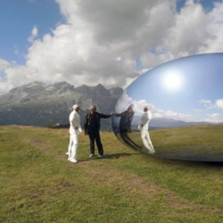 Alien spacecraft or a renewably powered Alpine capsule concept? Hmmmm.