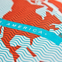Lots of fun detailing in this new letterpress world map by These Are Things