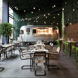 Restaurant 48 Urban Garden in Athens, on the ground floor of the Ileana Tounta Contemporary Art Center.