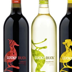 Lucky Duck, a new brand of wine, with adorable branding from Dragon Rouge.