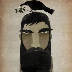 Illustrator Ryan Fowler is working on a series of thick bearded lumberjacks.