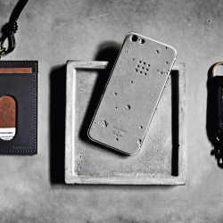Fantastic moon themed iPhone 5 case crafted from concrete by Posh-Projects.