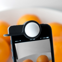 Luxi light meter adapter for iPhone. Luxi turns your iPhone 4/4s & 5/5s into an incident light meter.