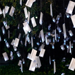 luzinterruptus hits the streets of Madrid with 1000 illuminated poems.