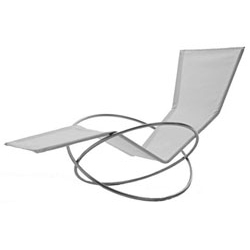 Loop Lounger - Gala Wright, 2004 - can you believe this gorgeous lounger folds up? Would be perfect for a day like today out on the balcony while posting...