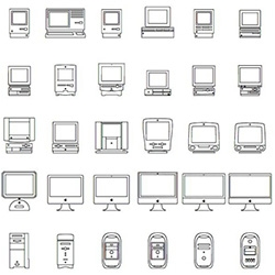 Download link for Apple's adorable 30th birthday of the Mac FONT! With every model they have made...