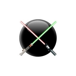 MACSABER - so when you swing your mac around - it makes lightsaber noises.