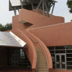 """Frank Gehry's new, super-stylized """"Mad Potter"""" Museum in Mississippi."""