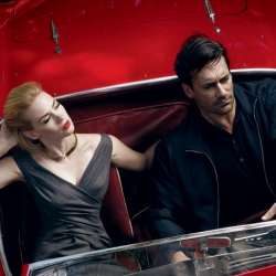 Jon Hamm and January Jones gear up for the 3rd season of Mad Men in this photo series for Vanity Fair. Photography by Annie Leibovitz; styling by Michael Roberts.
