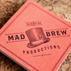Adam Hill's rebranding for Mad Brew productions.
