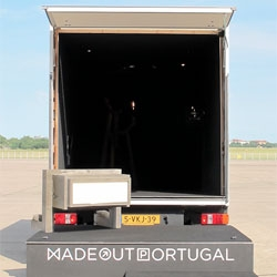 Made Out Portugal's mobile gallery in a truck for DMY Berlin.