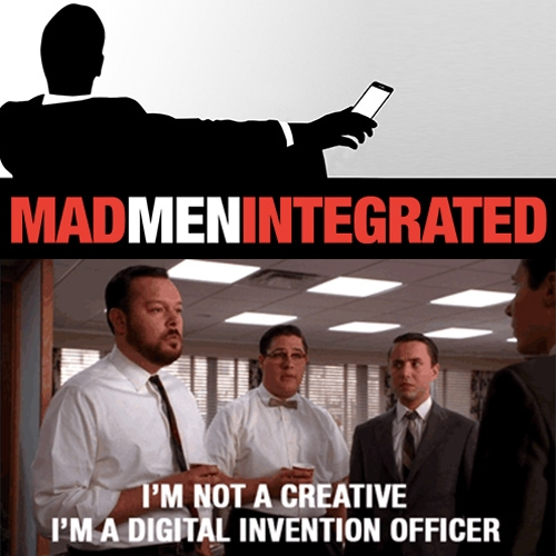 Mad Men Integrated - A fun gif tumblr that shows what Mad Men would look like in 2016. By James Connolly.