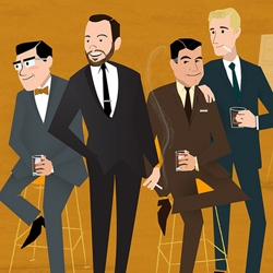Great set of Mad Men Illustrations.