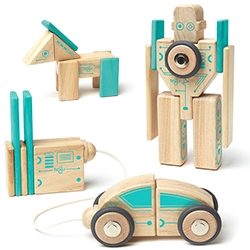 Tegu's latest wooden magnetic block sets go robotic!
