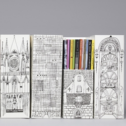 Magazine holders from the Swedish Museum of Architecture: create your own bookshelf city