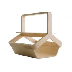 While the design mimic the shape of a picnic basket, this is actually a magazine basket designed by Enzo Berti.