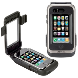 Magellan GPS ToughCase ~ a tough iphone case with built in battery and sensitive GPS which is compatible with most GPS and Location Based apps for your iPhone or iPod touch