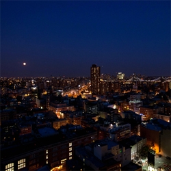New York City is looking downright magical under the glow of the full moon tonight ~ views from the 25th floor of the Mondrian SoHo.