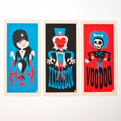 new Magic Set of prints from bandito design co. HEX, ILLUSION and VOODOO.