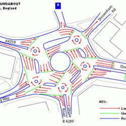 Insane roundabout!  Not to be too american, but is this really better than a light?
