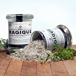 Sel Magique - beautiful branding and packaging for this line of gourmet fleur de sel herbs de provence.