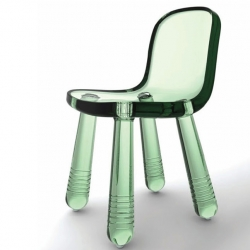Magis will present the new 2010 collection at the next Milan furniture fair. Pieces include this 'Sparkling chair'  by Marcel Wanders using blow moulding for PET.