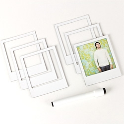 Magnetic Polaroid Frames! They are like little NOTCOT.org posts!