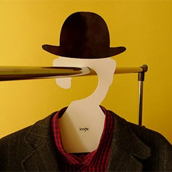 "Igor ""Rogix"" Udushlivy's Magritte hanger is a silhouette of famous works of art by the surrealist master."