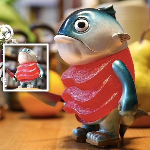 Mame Moyashi - Maguro - coming June 1. Mmm a perfect vinyl toy for sashimi lovers.