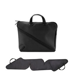 This clever zip-around briefcase by Makio Hasuike unzips all the way around and can even lie fully flat when unzipped.