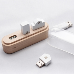 Maison, the amazing USB hub created by South Korean designer Su hyun Yoo.