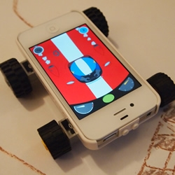 Makego turns your iPhone / iPod Touch into a toy vehicle. It encourages fun, open ended collaborative play between parent and child.