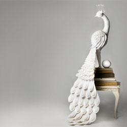 The Makerie Studio (Julie Wilkinson and Joyanne Horscroft) create beautiful intricate paper sculptures.